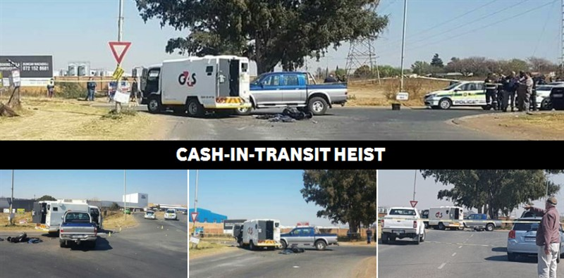 A Security Guard was rushed to hospital following a Cash-in-Transit Heist in Benoni on Monday morning