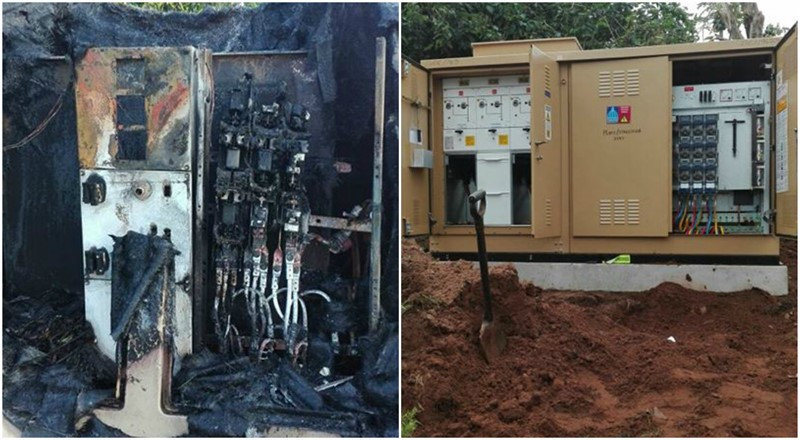 Electricity substation Razed by Protesters in Isipingo Hills