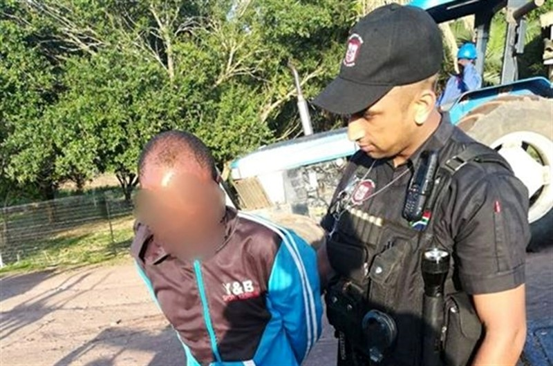 Suspect Arrested by RUSA after he Raped his sister-in-law at knife point in Esnembe, KZN