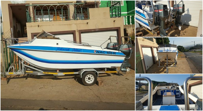 Theft of a White 17 foot Invader Catamaran double hull boat in Phoenix, KwaZulu Natal