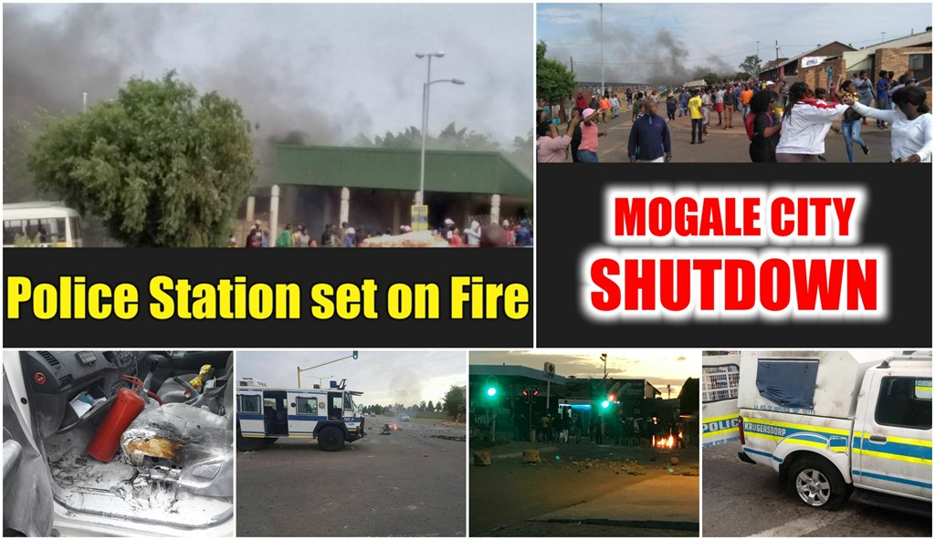 IN PICTURES - KRUGERSDORP, MOGALE CITY SHUTDOWN: Munsieville Police station set on Fire