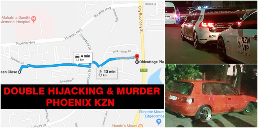 DOUBLE HIJACKING & MURDER in Phoenix by 5 Armed Suspects, KwaZulu Natal