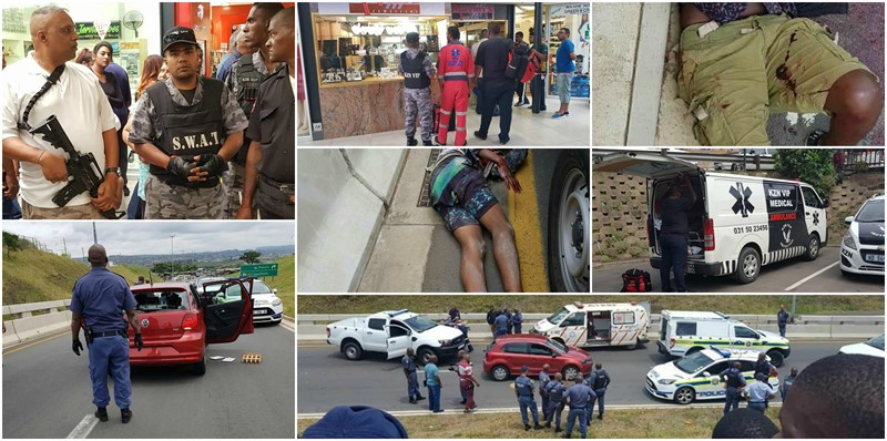 DURBAN: 6 Criminals Arrested after Shootout and Armed Robbery in Phoenix