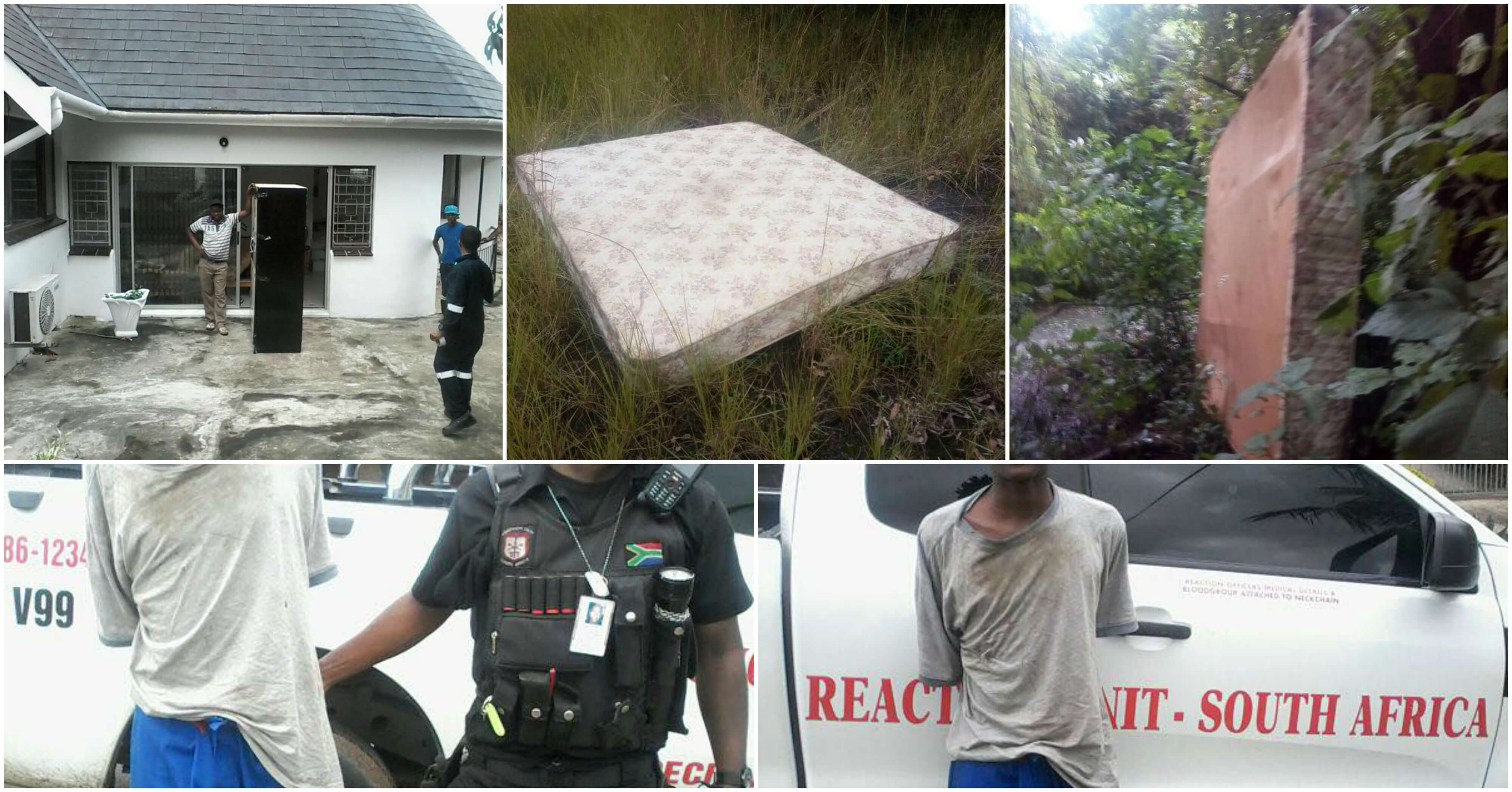 SICK & TIRED House Breaking Suspect Steals Bed in Southridge, KZN