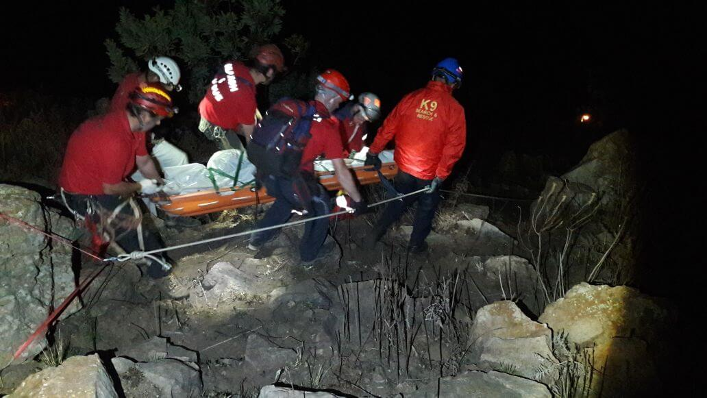 A Man was killed after falling down hill in Kloofendal in Roodepoort last night