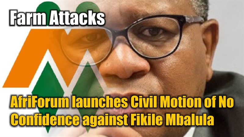 FARM ATTACKS: AfriForum launches civil motion of no confidence against Fikile Mbalula