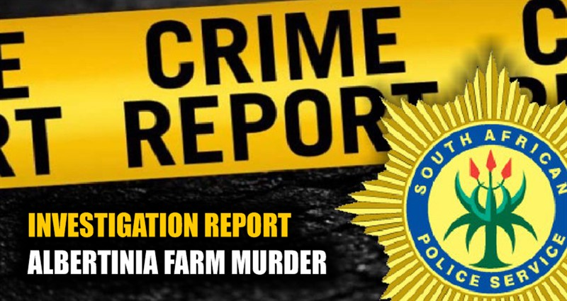 FARM MURDER: Thorough Investigation leads to arrest in Zout van de Aarde murder; Albertinia