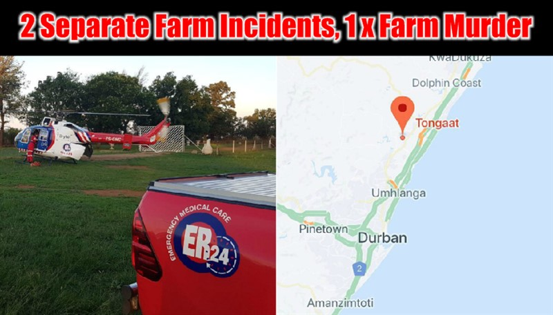FARM INCIDENTS: 2 Separate Farm Incidents including a Farm Murder
