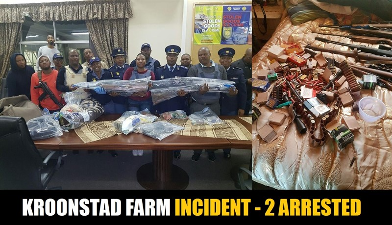 SAPS NEWS: Kroonstad Farm Incident: 2 of the 6 Suspects Arrested, Firearms Recovered
