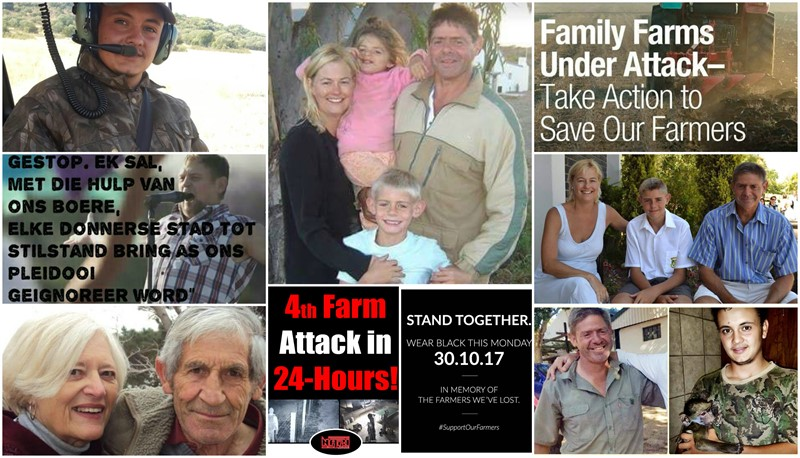 8 FARM ATTACKS and 2 FARM MURDERS since Friday until this morning (Tuesday)