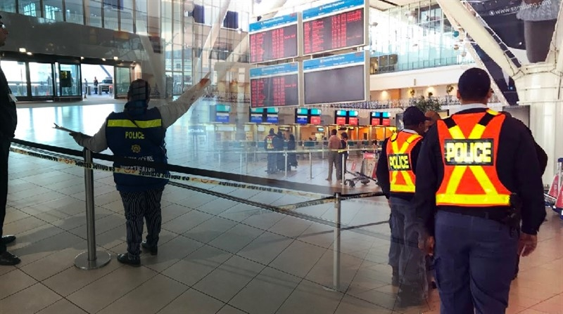 VIDEO - CAPE TOWN International Shooting incident this morning left two people wounded