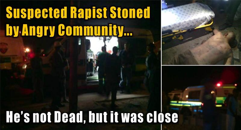 Suspected Rapist stoned in Freedom Park, Tafelsig Friday evening