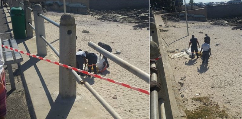 A BODY WAS FOUND AT SEA POINT BEACH WRAPPED UP IN BAGS
