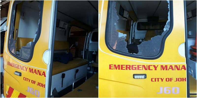 EMS Ambulance Attacked in Honeydew while Transporting Pregnant Patient