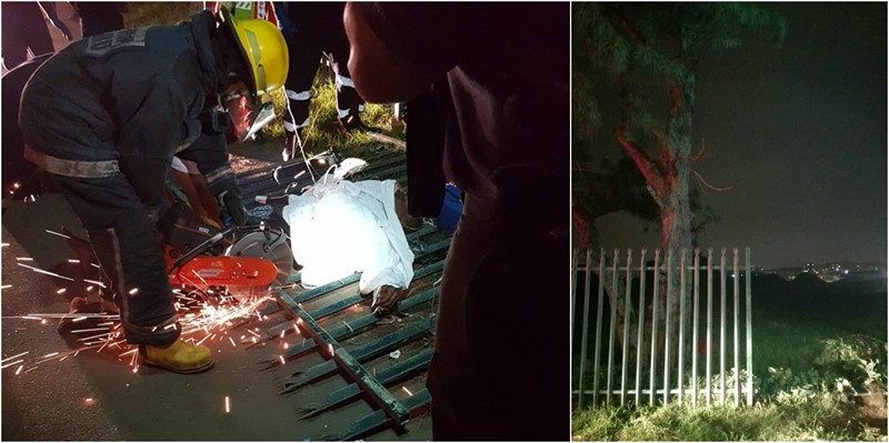 A Man in his twenties is in Critical Condition after he was impaled on a Fence in Durban