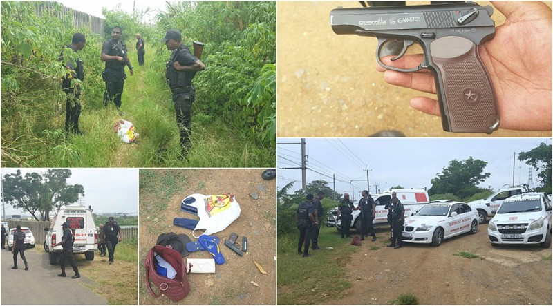 RUSA Officers Pursue Robbery Suspects, Replica Firearm and Stolen items recovered, Kwa-Zulu Natal