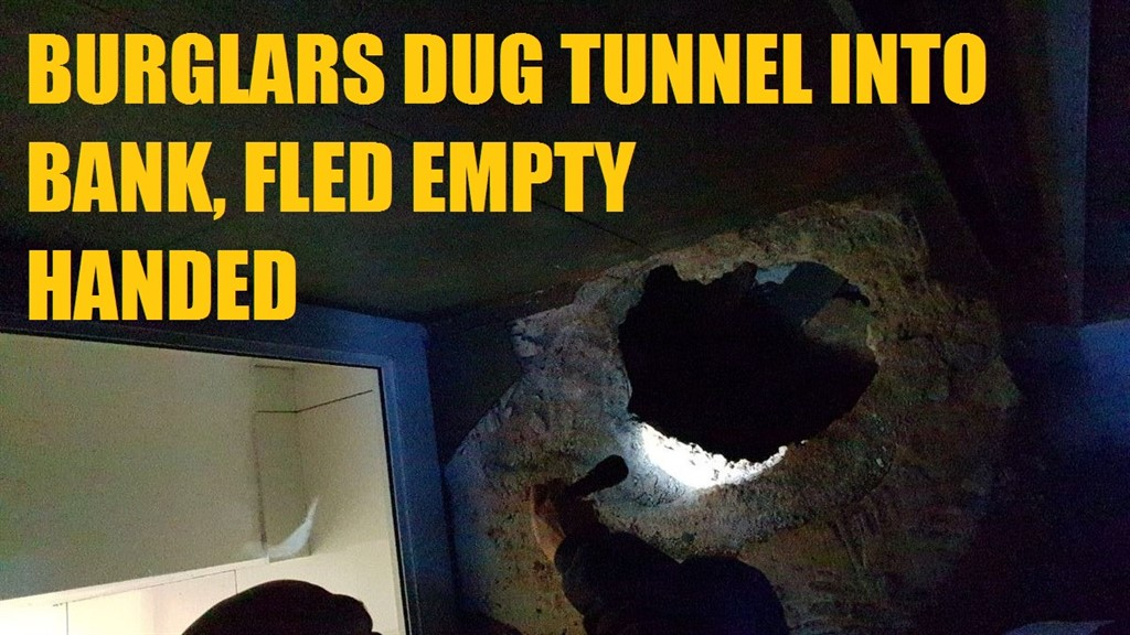 Burglars dug Tunnel into Bank in Fordsburg early hours of Wednesday morning, Fled empty handed