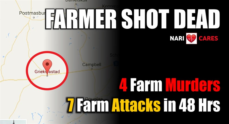 FARMER SHOT DEAD: 4 Farm Murders, 7 Farm Attacks in 48 hours, 3 Farm Murders yesterday