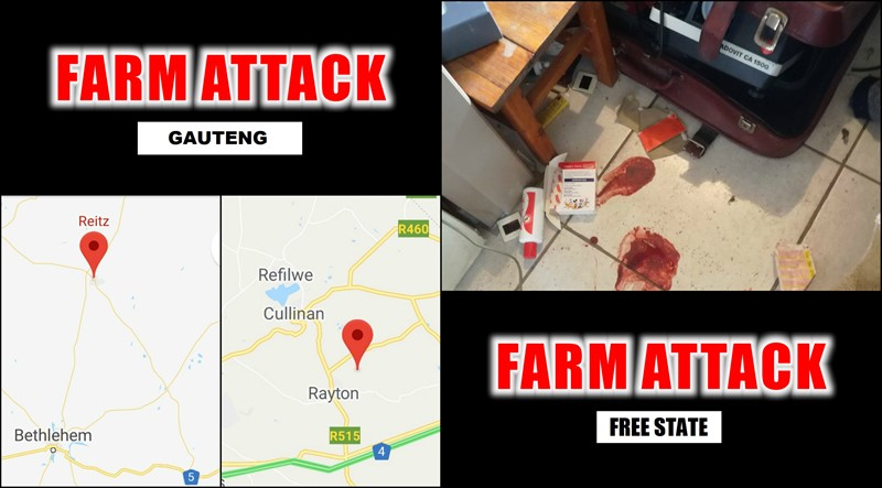 ANOTHER 2 FARM ATTACKS: Gauteng & Reitz in the Free State, One Attacker Shot & Killed