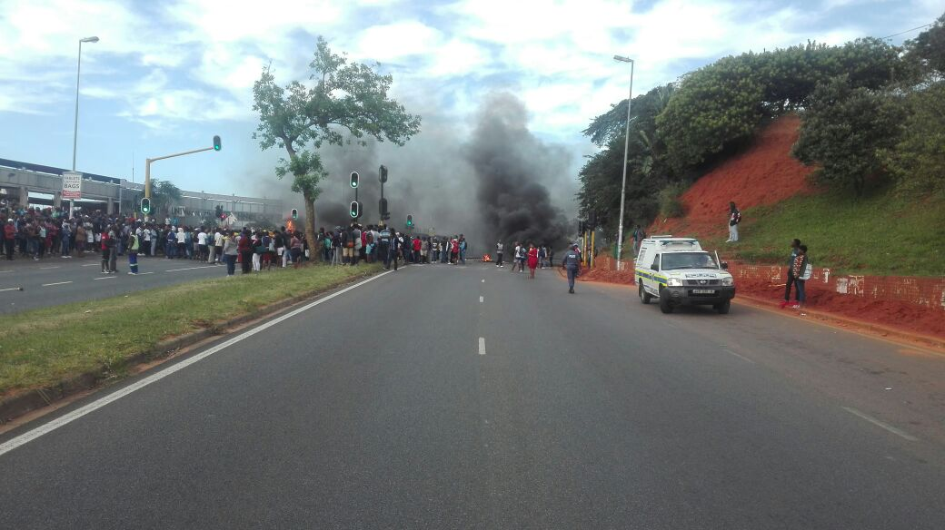 WATCH - DURBAN UMLAZI PROTEST: Most Roads Blocked, Burning Tyres, Avoid the Area