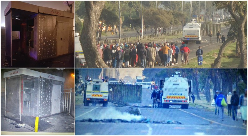 MITCHELLS PLAIN PROTEST TURNS VIOLENT, Jakes Gerwel and other Roads Closed
